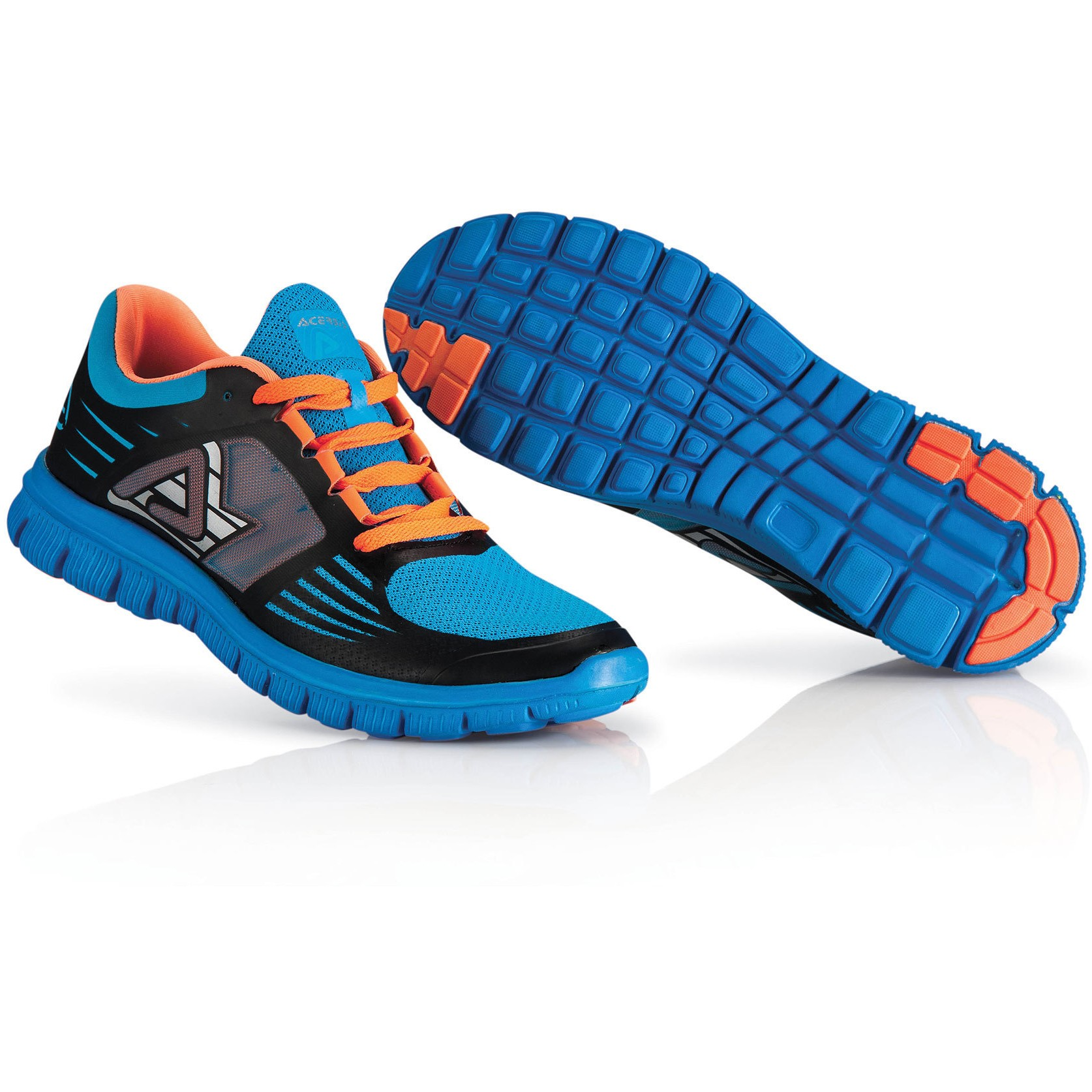 basquettes running ou marche ACERBIS BLEU ORANGE VIF P42 uniquem