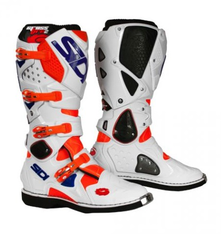 BOTTES MOTO CROSS SIDI CROSSFIRE SRS.2 BLANC ORANGE BLEU P.43