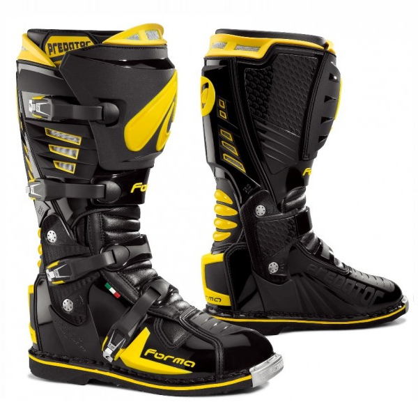 bottes moto cross enduro forma predator noir jaune. Black Bedroom Furniture Sets. Home Design Ideas