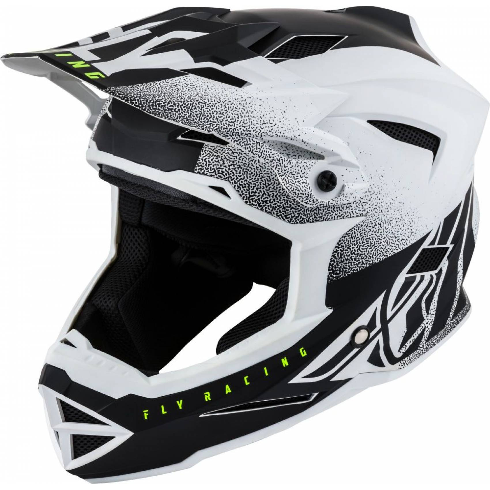 CASQUE BMX DH ENFANT FLY DEFAULT BLANC MAT RACING YS 47 YM 49 YL