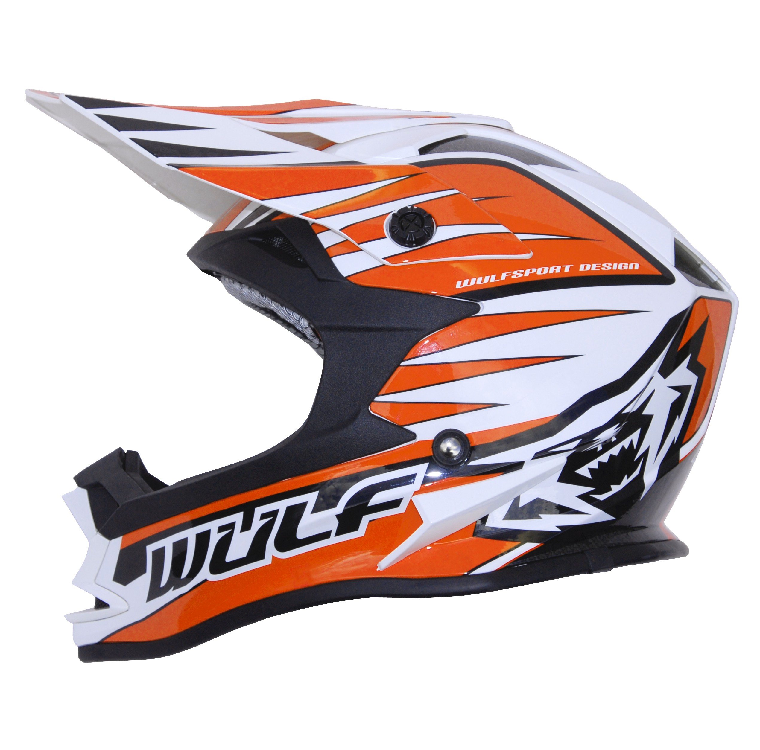 CASQUE ENFANT MOTO CROSS WULFSPORT ADVANCE ORANGE YS a YXL