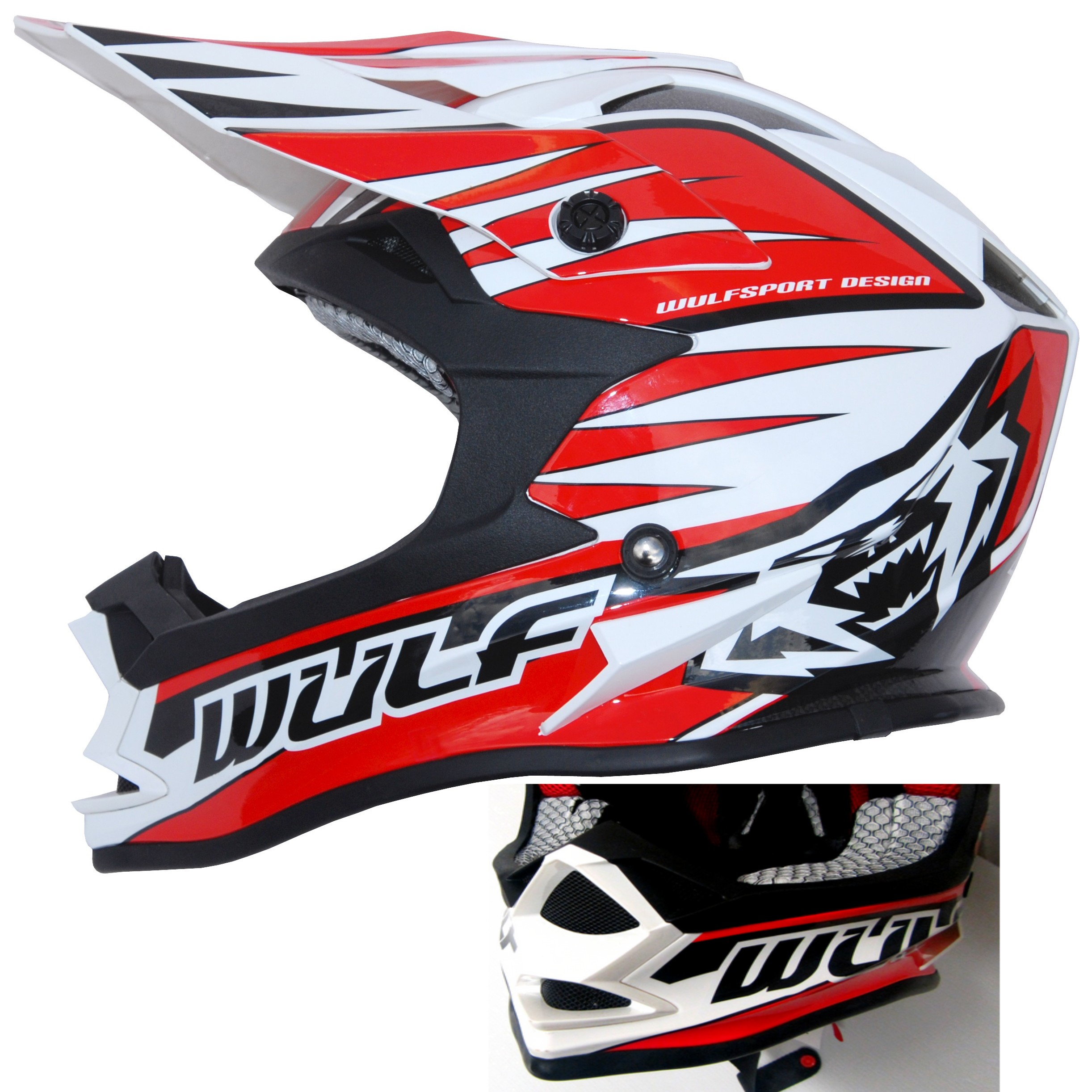 CASQUE ENFANT MOTO CROSS WULFSPORT ADVANCE ROUGE YS a YXL