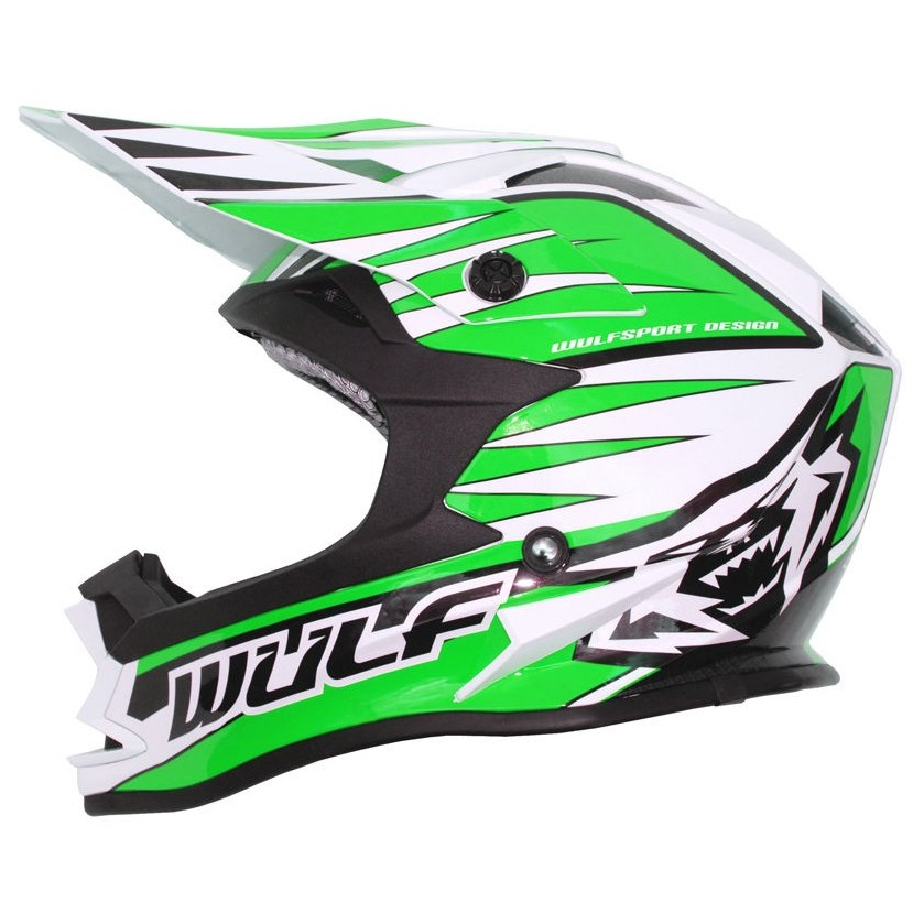 CASQUE ENFANT MOTO CROSS WULFSPORT ADVANCE VERT YS a YXL