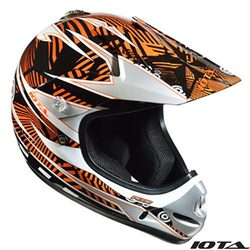 CASQUE CROSS ENFANT IOTA ORANGE modéle PIXIE