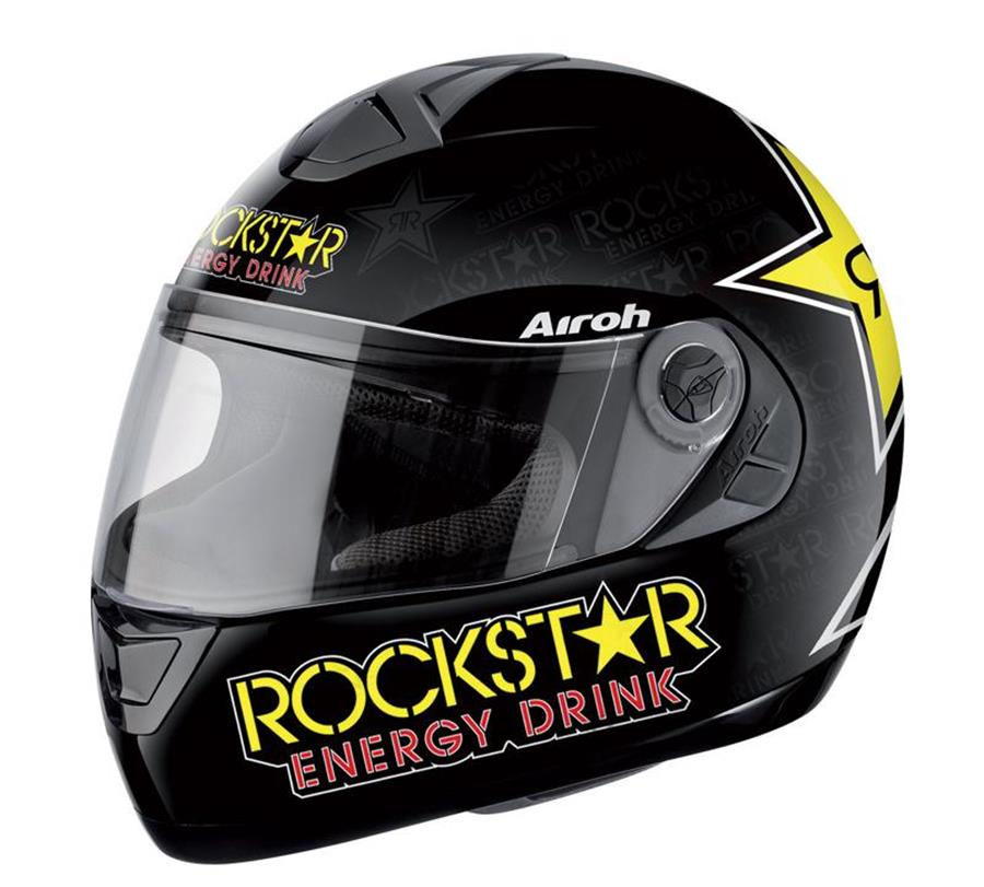 Casque intégral route AIROH aster x rockstar S M L
