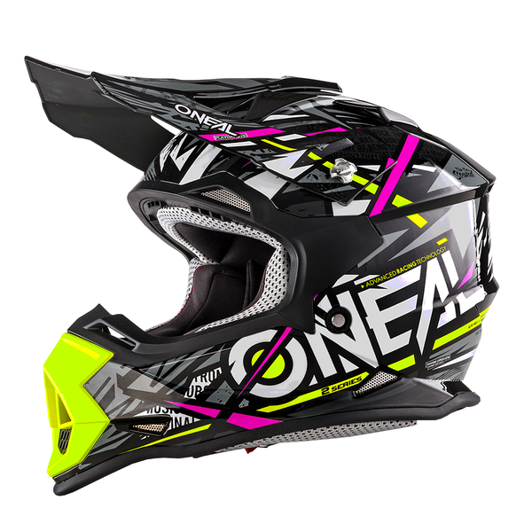 SUPERBE CASQUE CROSS ENFANT O'NEAL SYNTHY JAUNE ROSE YS a YL