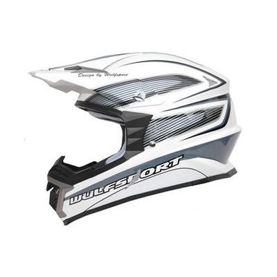 CASQUE TRICOMPOSITE MOTO CROSS WULFSPORT X1 Libre BLANC