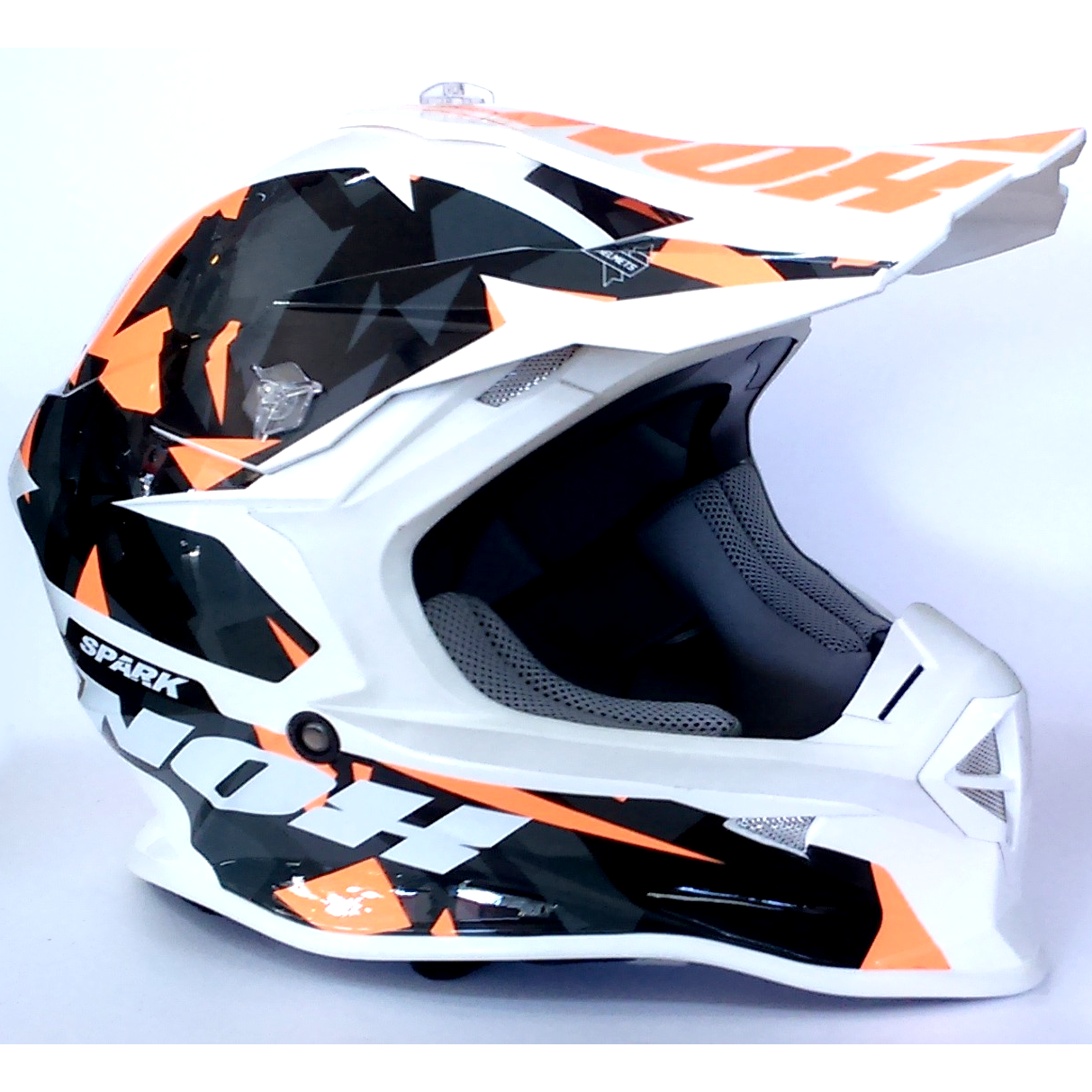 CASQUE type CROSS NOX SPARK ORANGE XS 53-54