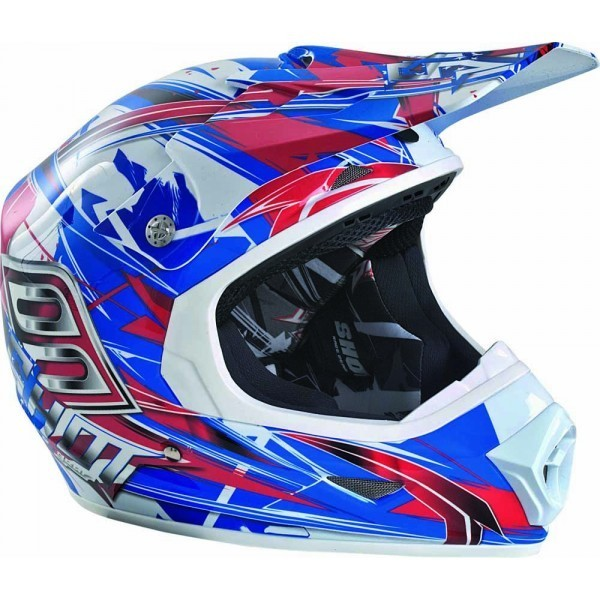 CASQUE MOTOCROSS SHOT FURIOUS ROUGE BLEU S M L XL