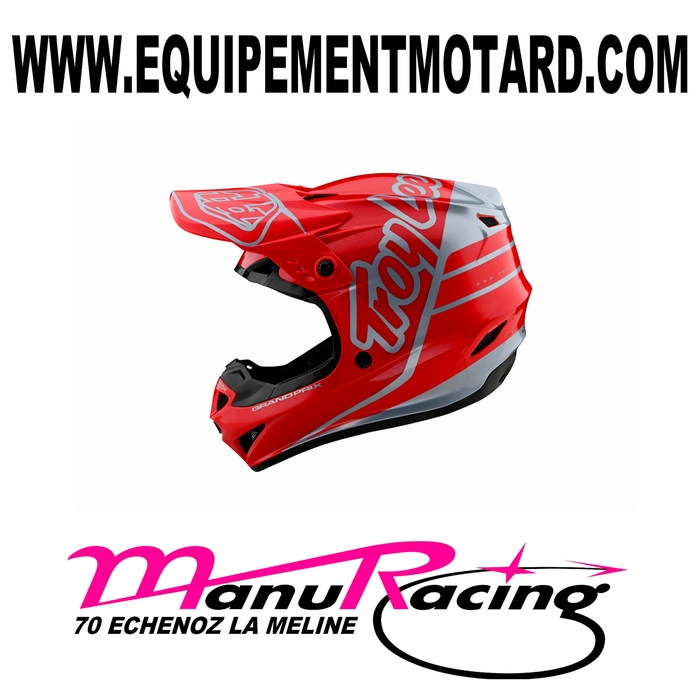 Casque cross TROY LEE DESIGNS GP ROUGE ARGENT T. XS à M