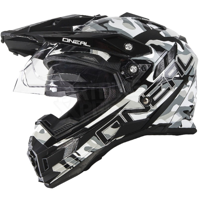 CASQUE ENDURO DOUBLE VISIERE ONEAL SIERRA SNIPER GRIS S 55 56