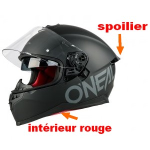 CASQUE INTEGRAL 2 VISIERES PINLOCK ONEAL CHALLENG. RACING NOIR M