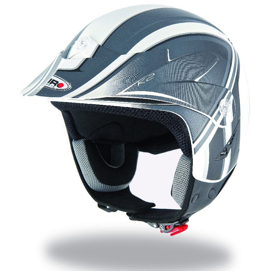 en destockage : casque JET TRIAL SHIRO DECO GRIS XS a XXL