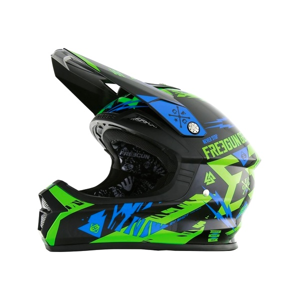CASQUE MOTOCROSS ADULTE FREEGUN DEVO VERT XS S M