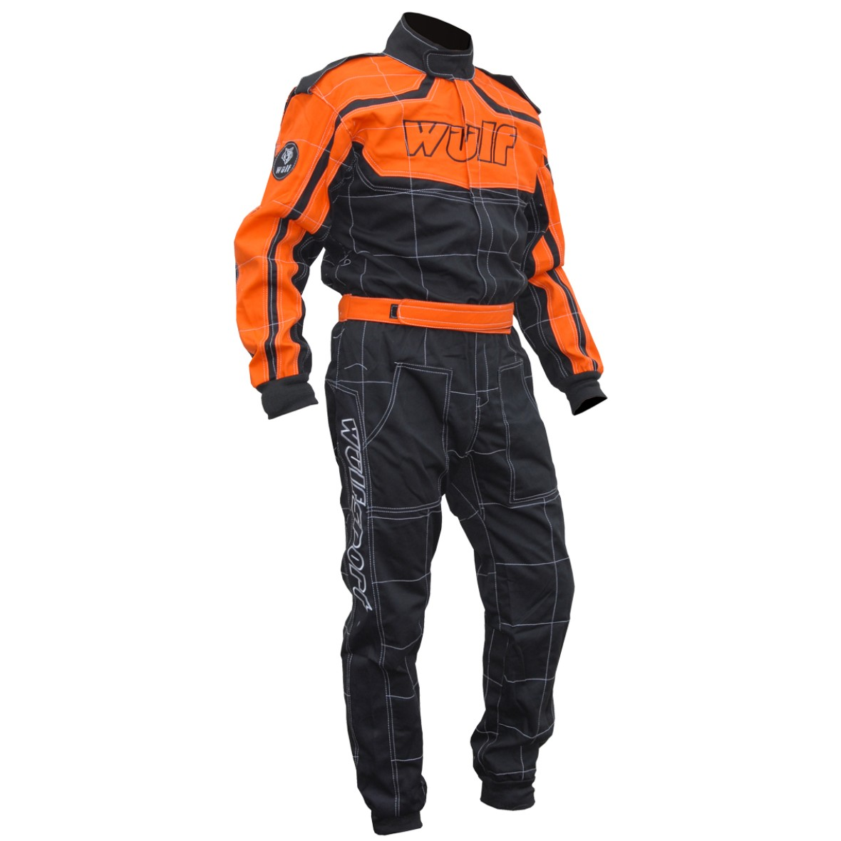 combinaison spécial auto sport rally karting auto cross orange