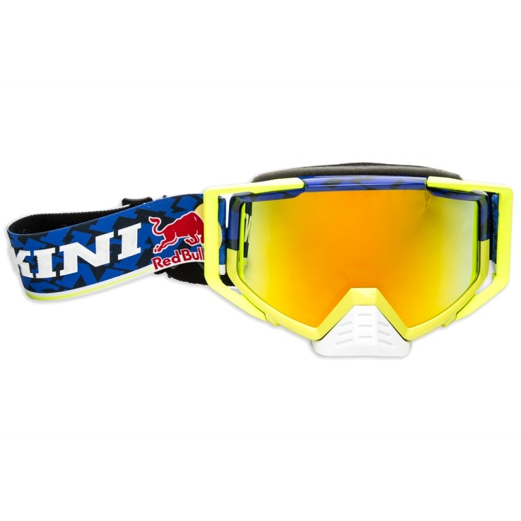 LUNETTES MASQUE KINI REDBULL COMPETITION JAUNE FLUO MIROIR
