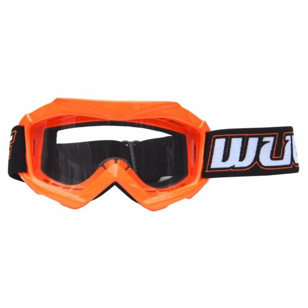Lunette moto cross BMX WULF ORANGE ENFANT 5 à 13 ans