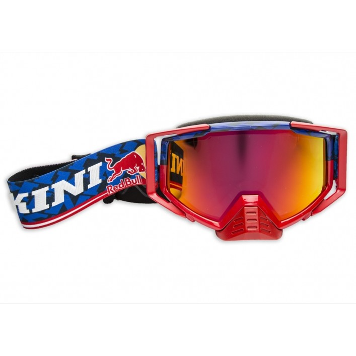 LUNETTES MASQUE KINI REDBULL COMPETITION BLEU ROUGE MIROIR