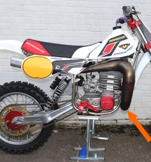 echappement racing maico moto cross enduro 1980 81 82