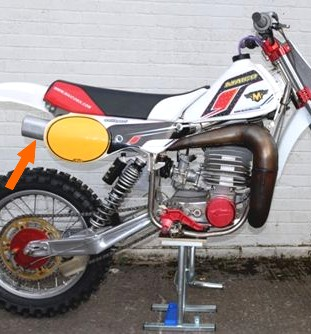silencieux alu racing 490 maico moto cross enduro 1981 82 83