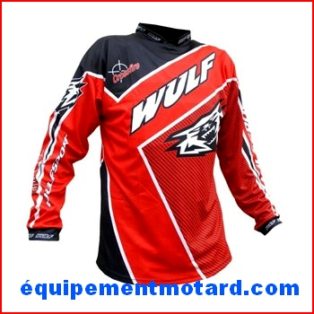 WULF MAILLOT CROSSFIRE ROUGE cross ou bmx ENFANT 3 / 4 ans