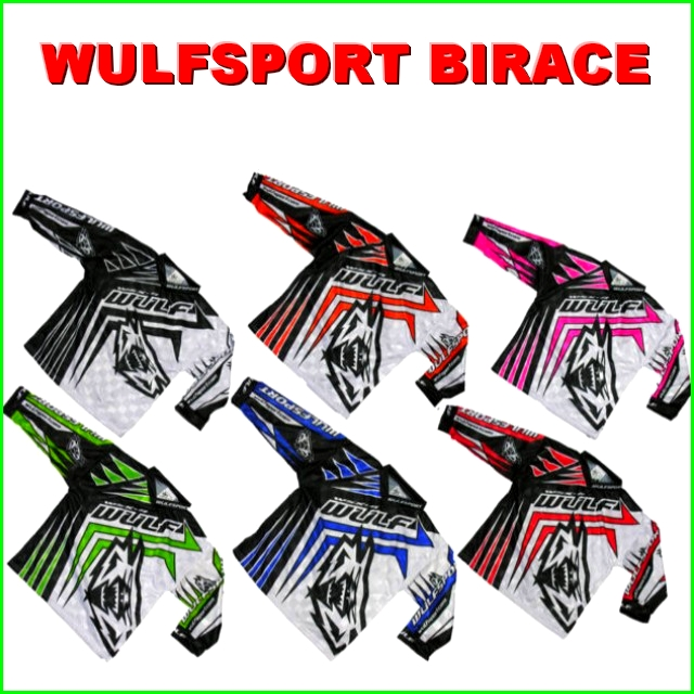 WULF BIRACE superbe MAILLOT COULEUR cross ou bmx BABY 3 / 4 ans
