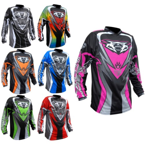 WULF ATTACK superbe MAILLOT COULEUR cross ou bmx BABY 3 / 4 ans