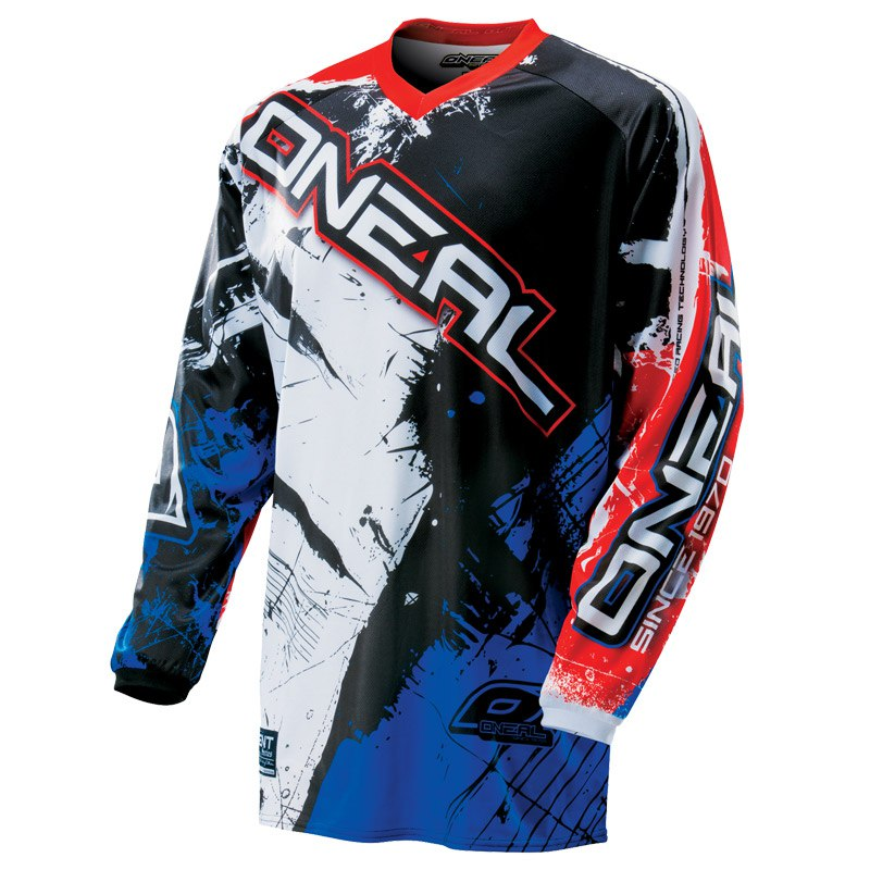 MAILLOT SWEAT ENFANT O'NEAL SHOCKER BLEU ROUGE 4 a 14 ans