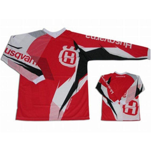 MAILLOT MOTO CROSS ENDURO HUSQVARNA FASHION ROUGE M,  XXXL