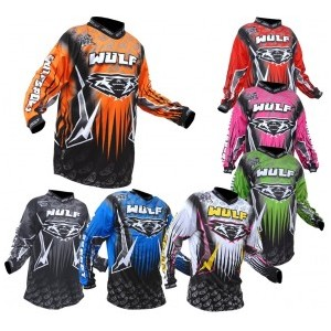 WULF STAMPING superbe MAILLOT COULEUR cross ou bmx BABY 3 / 4 an