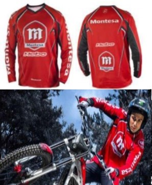 MAILLOT SWEET seul TRIAL HEBO MONTESA ROUGE M , L , XL