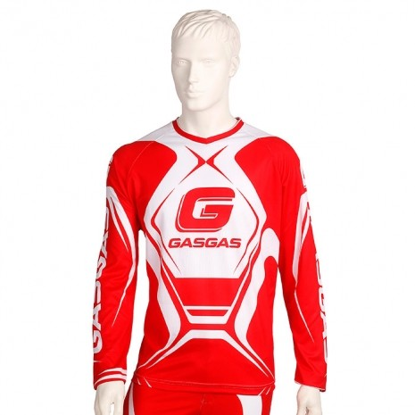 MAILLOT TRIAL GASGAS TEAM OFFICIEL ROUGE 2017 taille S à XXL