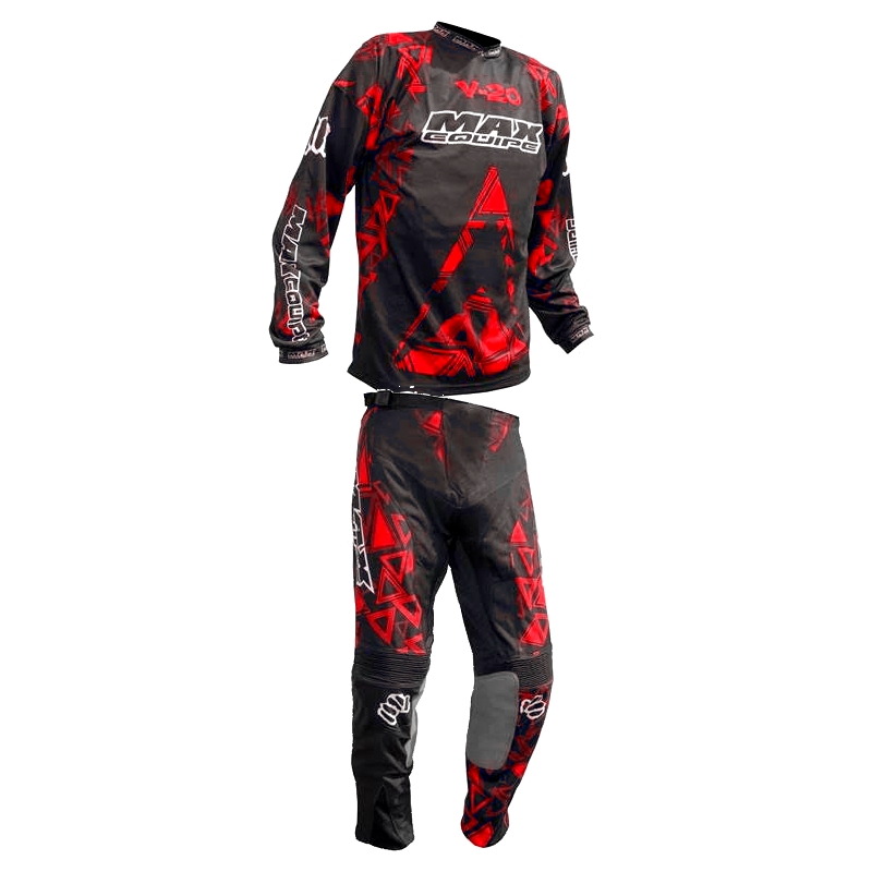 TENUE ENFANT CROSS BMX MAXEQUIPE V20 ROUGE 4 à 14a T20à28