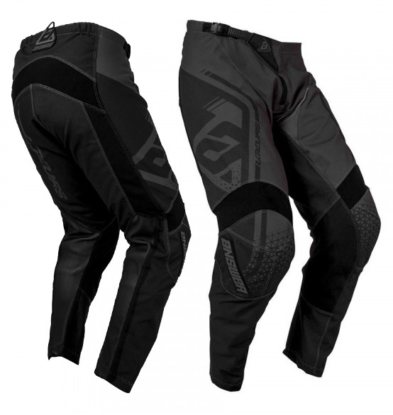 PANTALON ENFANT CROSS BMX ANSWER NOIR GRIS T20 22 24 26 30 32 34