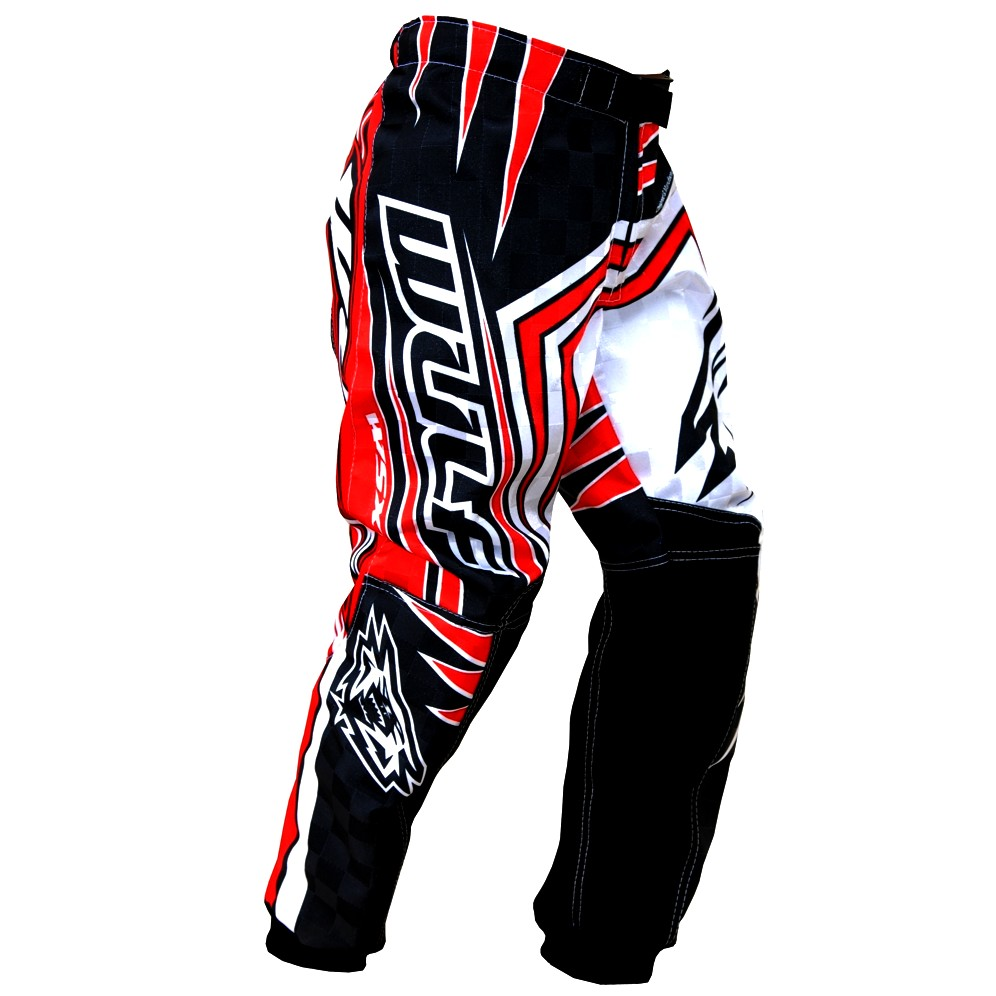 WULF : PANTALON cross ou BMX ROUGE ENFANT 6 / 7 ans T24