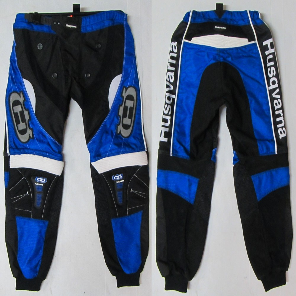 pantalon adulte enduro moto cross husqvarna hva bleu t30 32 34 u. Black Bedroom Furniture Sets. Home Design Ideas