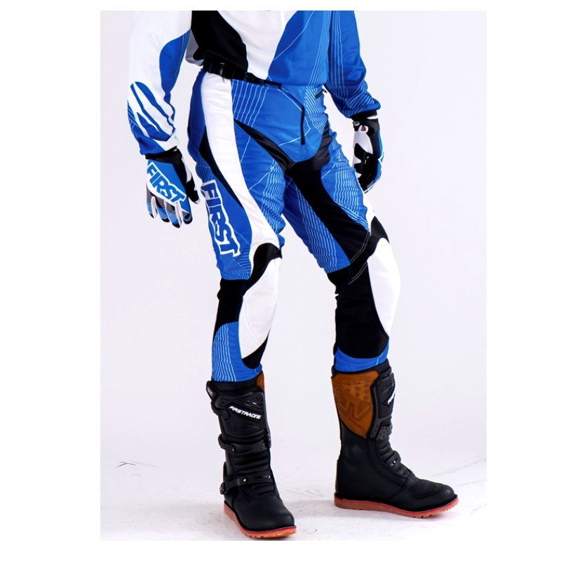 PANTALON SPECIAL TRIAL FIRST RACING  BLEU