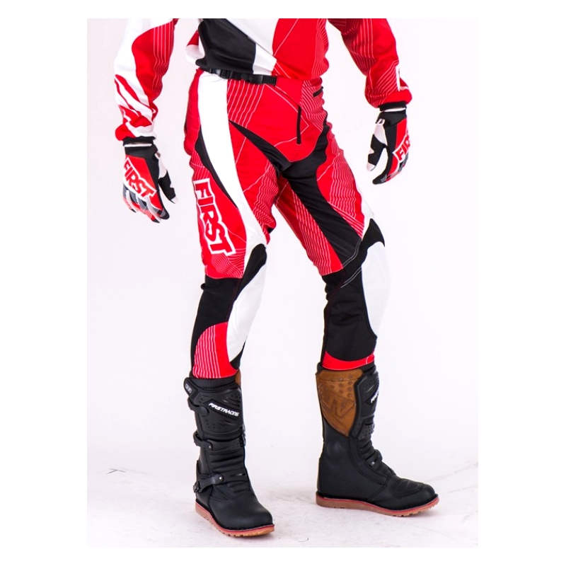 PANTALON SPECIAL TRIAL FIRST RACING  ROUGE