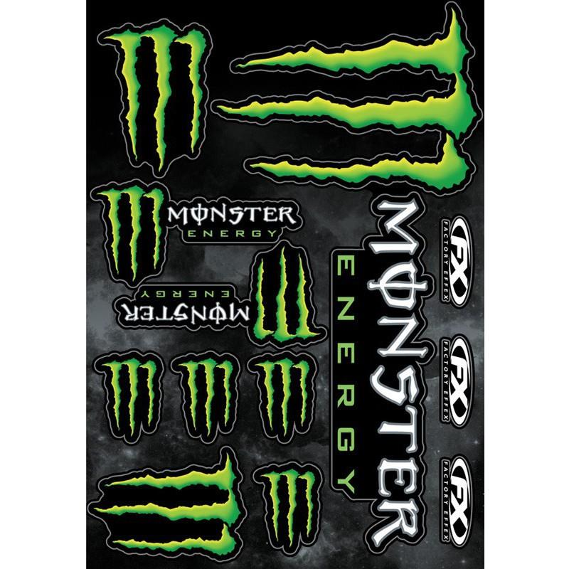 PLANCHE STICKERS MONSTER ENERGY  marque FX mod.1