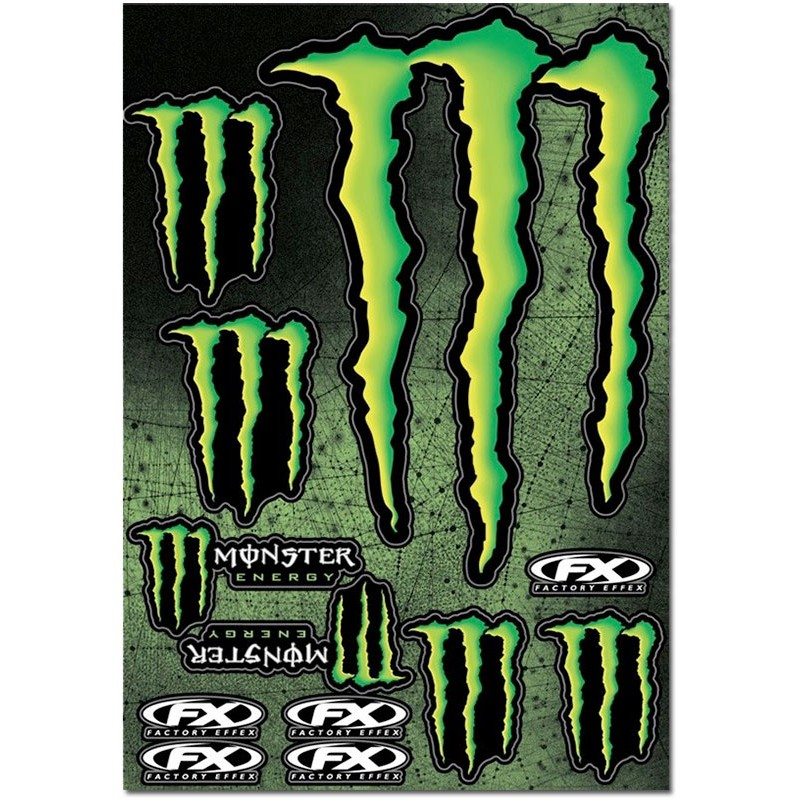 PLANCHE STICKERS MONSTER ENERGY  marque FX mod.2 griffe