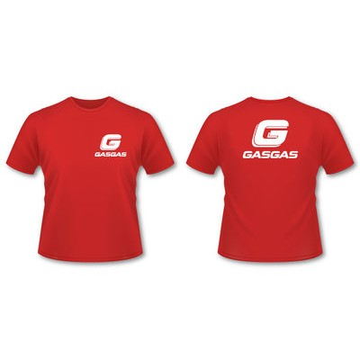 TEE SHIRT ADULTE GASGAS ROUGE racing S et XXXL