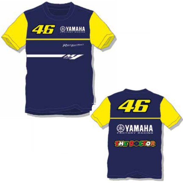 TEE SHIRT ENFANT VR46 YAMAHA RACING 7/8 ans