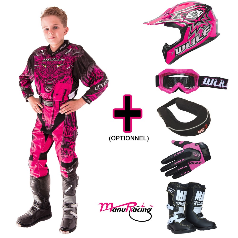 TENUE A OPTIONS ENFANT WULFSPORT AZTEC ROSE 4 à 14 ans T20 à 28
