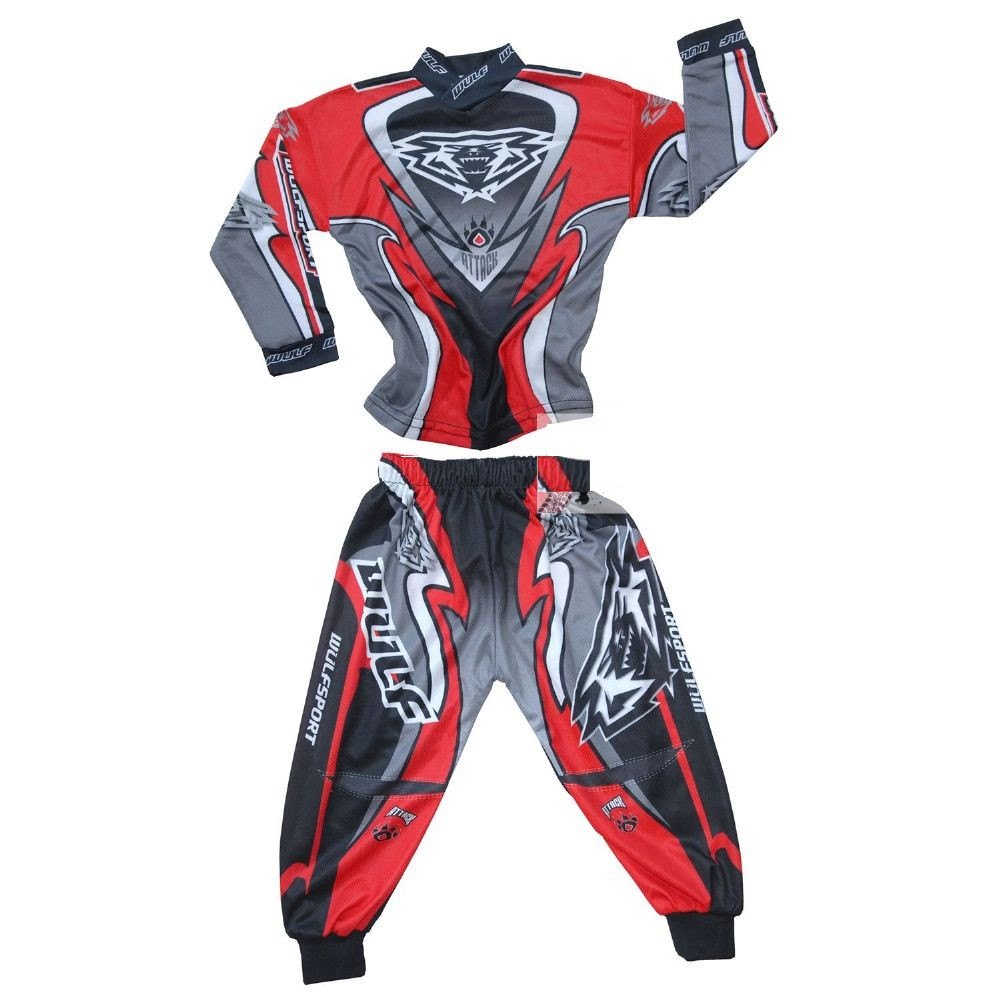 EXCLUSIF : TENUE CROSS ROUGE WULF ATTACK BABY 1,5 à 2,5 ans