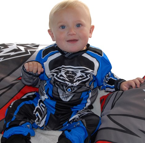 EXCLUSIF : TENUE CROSS BLEU WULF ATTACK BABY 1,5 à 2,5 ans