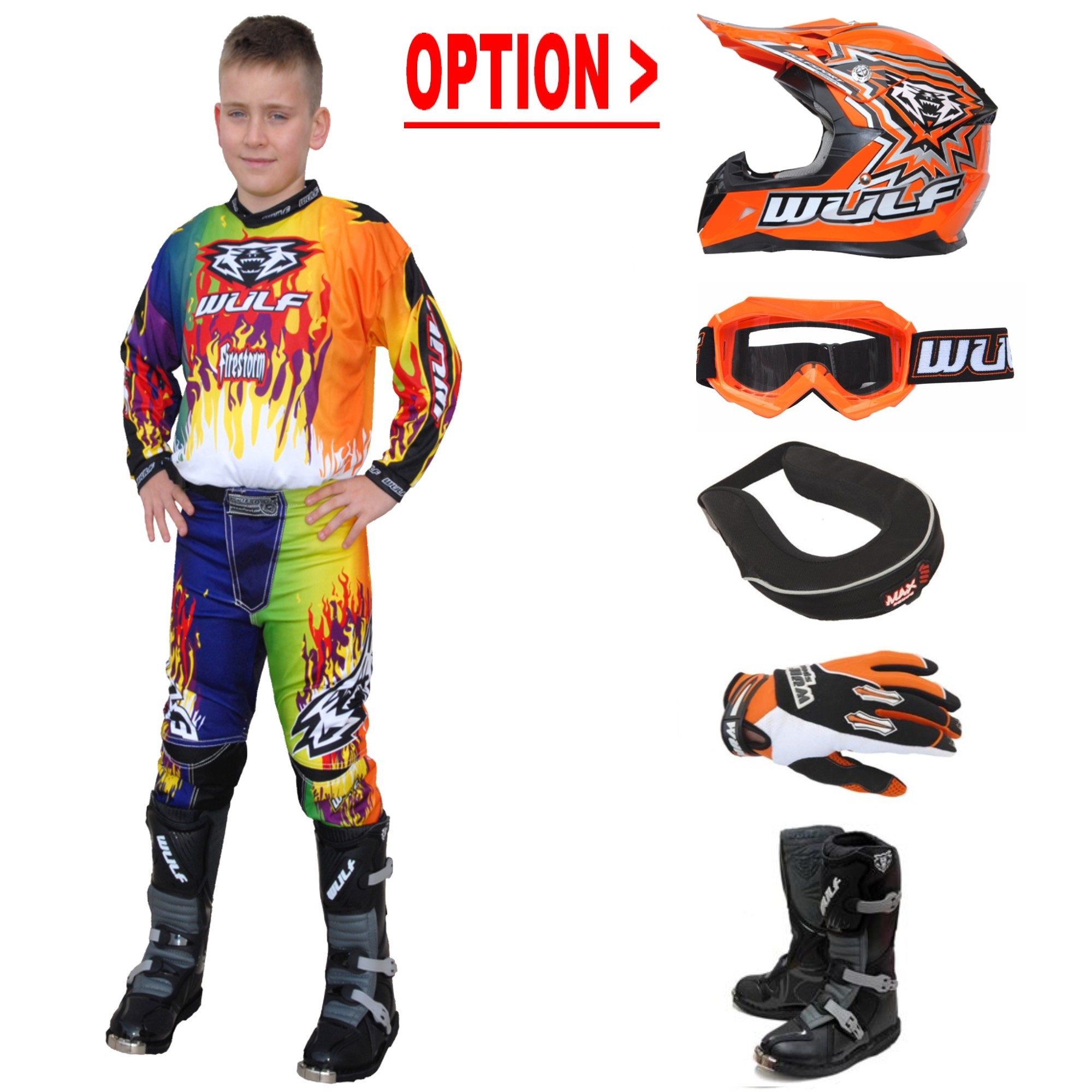 TENUE A OPTIONS ENFANT WULFSPORT STORM MULTI.O 4 à 14a T20 à 28