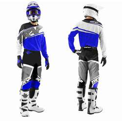 TENUE PANTALON MAILLOT CROSS BMX TRAP ENFANT BLEUE 8 10 12 14 an