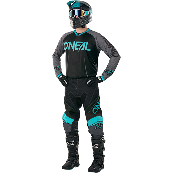 TENUE PANTALON MAILLOT O'NEAL MAYHEM BLOCKER BLEU 28 30 32 34 SM