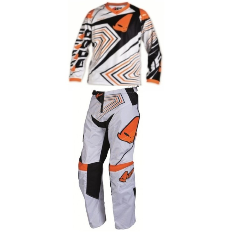 EXCLUSIF TENUE UFO cross ou BMX ORANGE ENFANT ADO 11 à 14a T28