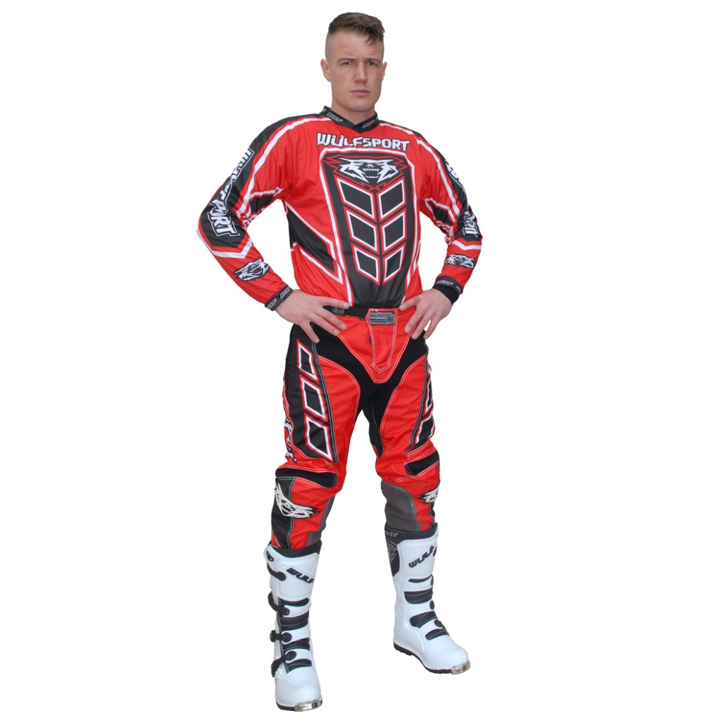 TENUE WULFSPORT AXIUM ADULTE ROUGE T.30 à 44us